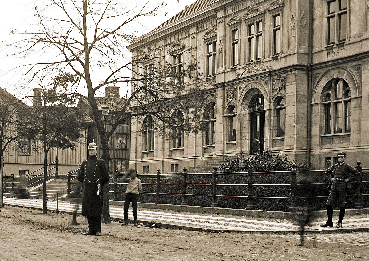 Foto runt 1916, ur Vänersborgs Söners Gilles arkiv