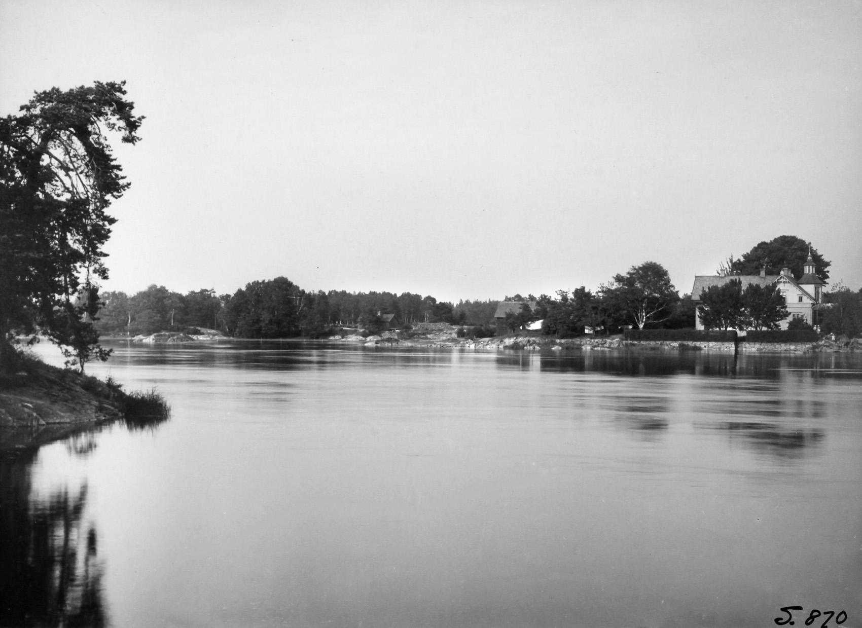 Vy över Sjöboda från Källshagen 1916