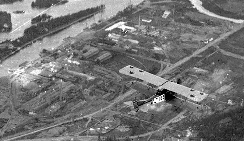 Utsnitt från vy över Stallbacka industriområde Trollhättan. Foto: Linde Barrlind / Vänersborgs museum
