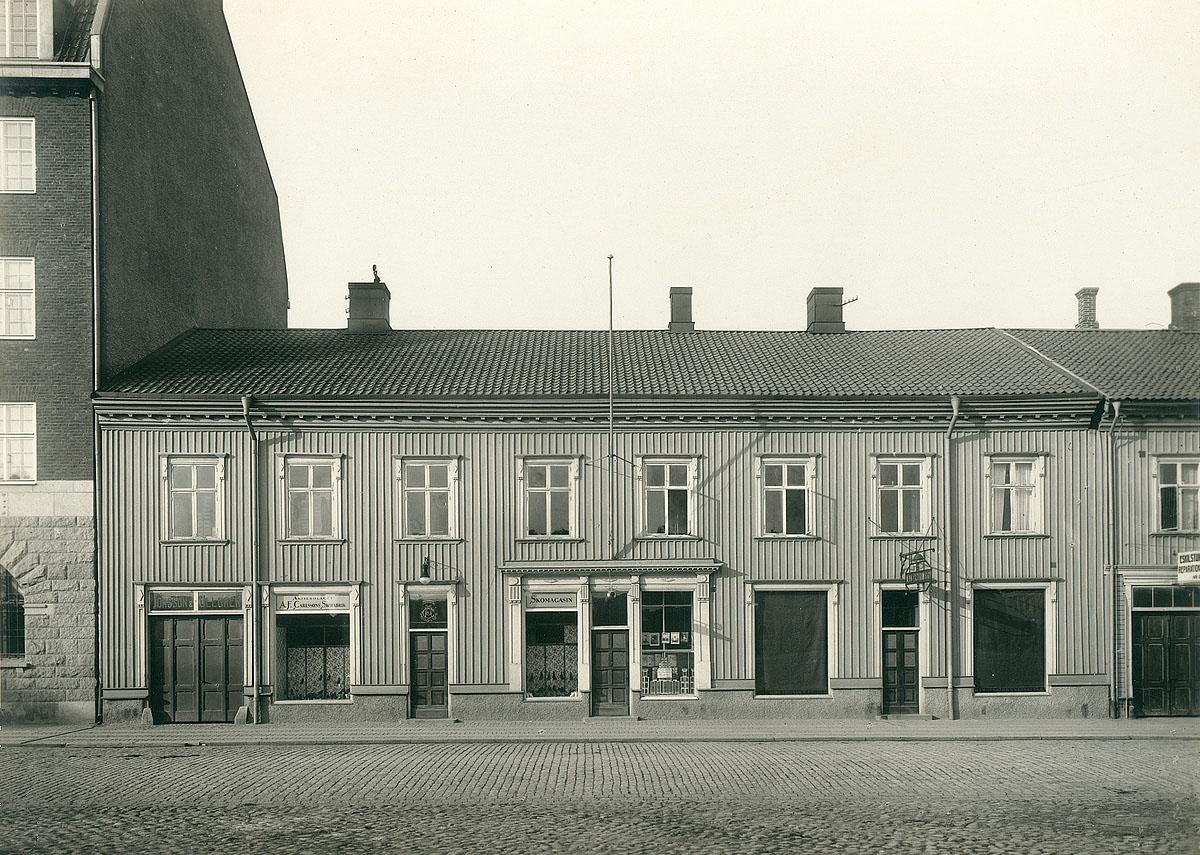 Skomagasinet Kungsgatan 7, Vänersborg. Foto: Okänd/Vänersborgs museum