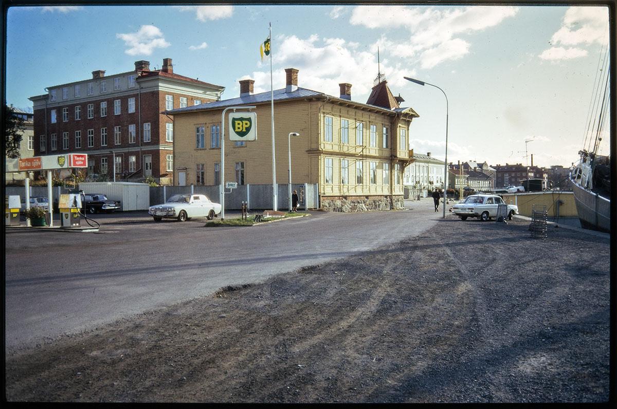 Vänersborg, Hamnplan 1972. Foto: Vänersborgs museum