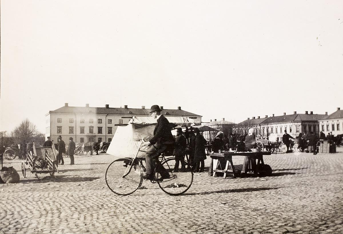 Vy över torget, Vänersborg. Fotograf okänd / Vänersborgs museum