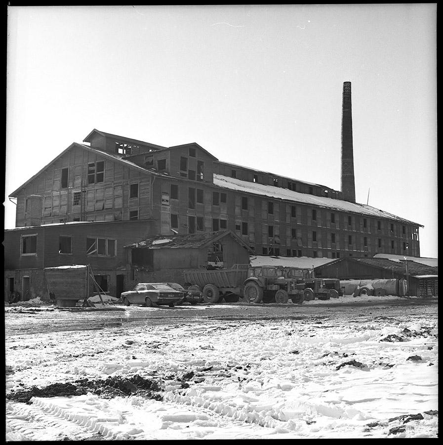 Fridhems tegelbruk 13/3-1972. Foto: Vänersborgs museum