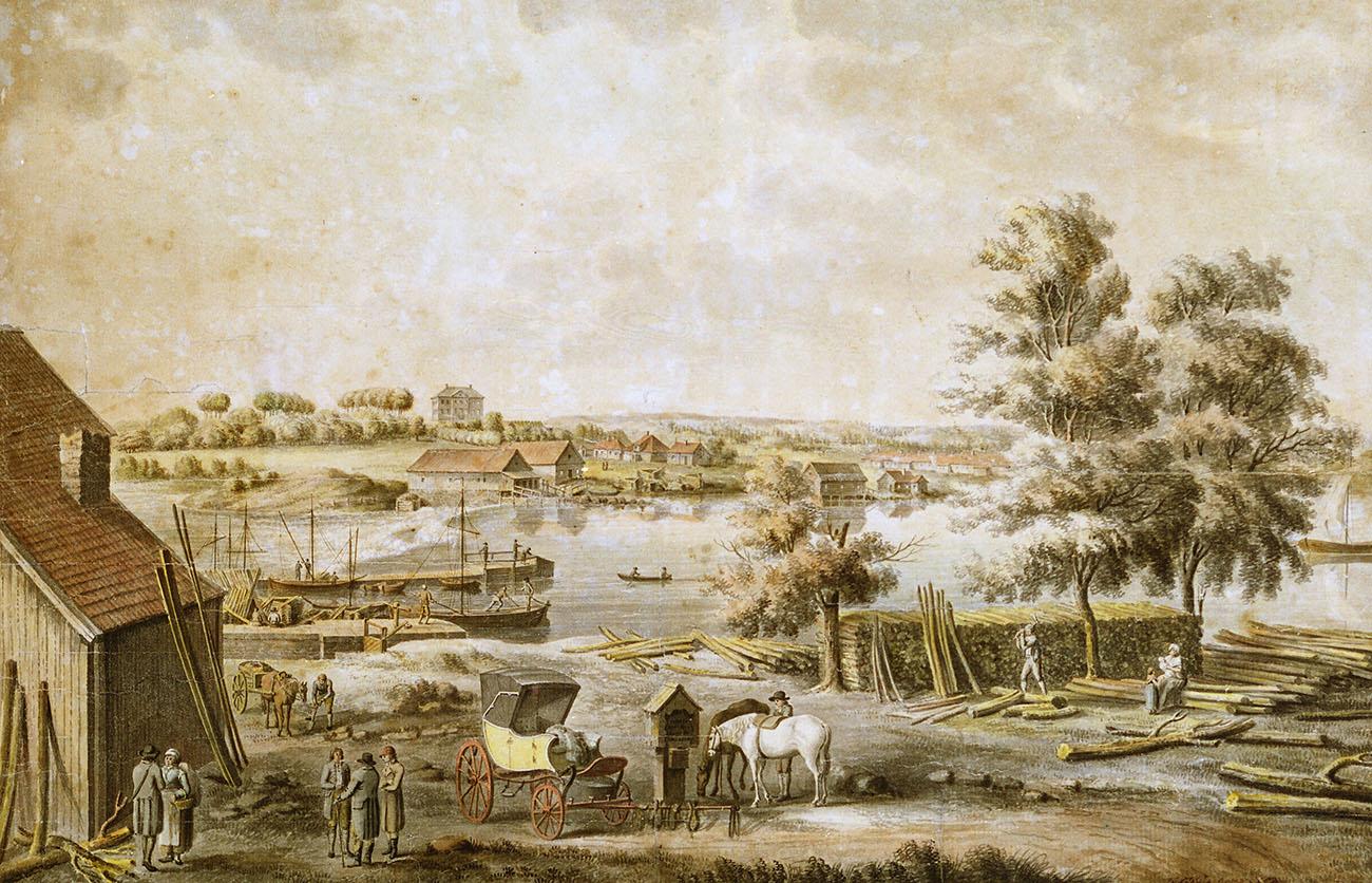 Akvarell av Justus Fredrik Weinberg f 1770, d 1832