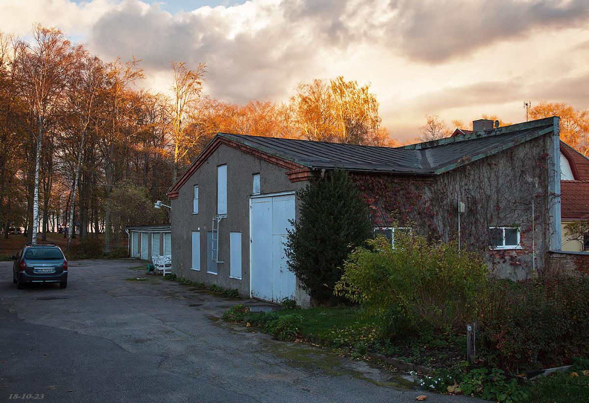 Rester av Otto Dafgårds slakterifabrik på Norra gatan, Vänersborg. Foto ME 18-10-23