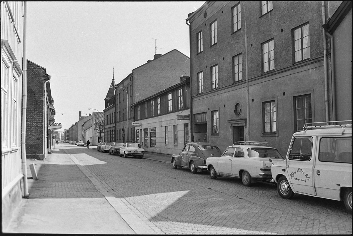 Kronogatan 7, 1972. Foto Vänersborgs museum.
