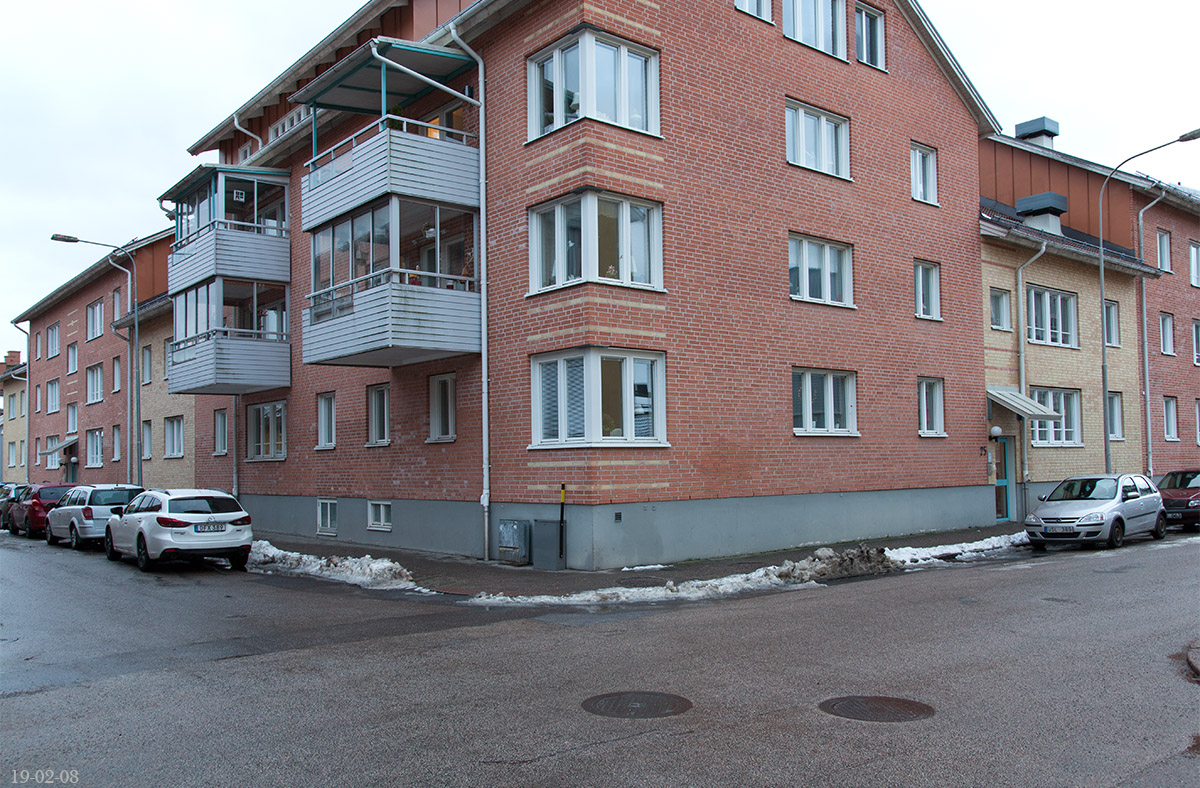 Korsningen Nygatan - Kyrkogatan 2019-02-08. Foto: Micael Ericsson