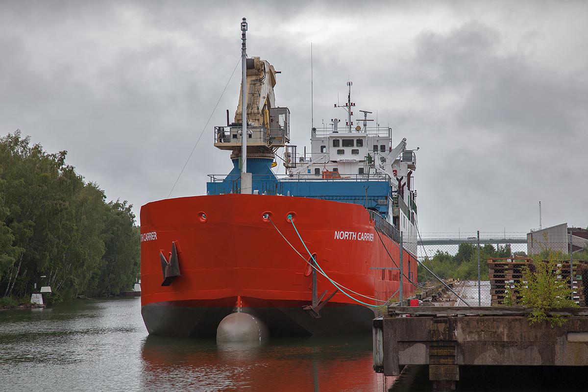 Stallbacka, Trollhättan 2019-07-06. North Carrier, ex. West vind, ex. Shuttle II, ex. Shuttle Karlstad.