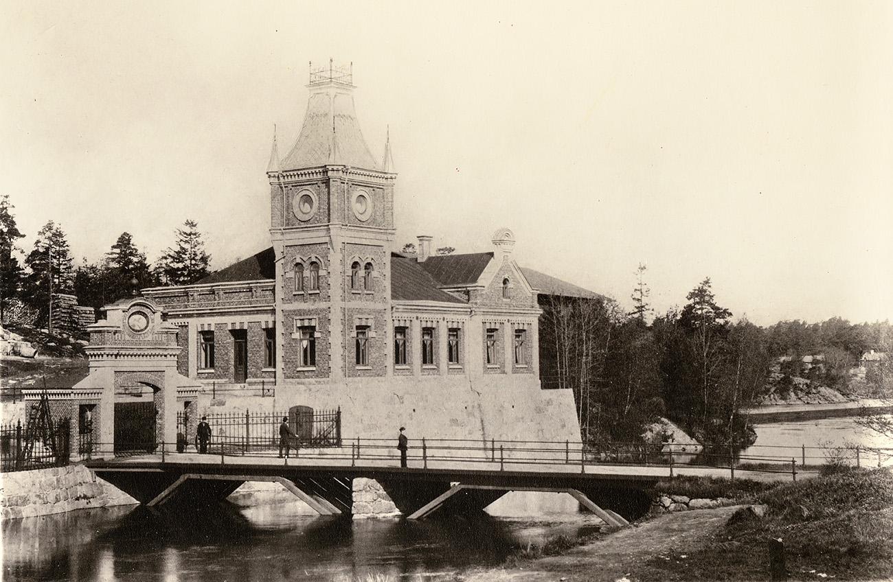 Wargöns AB, Kontorsbyggnaden uppförd 1888.
