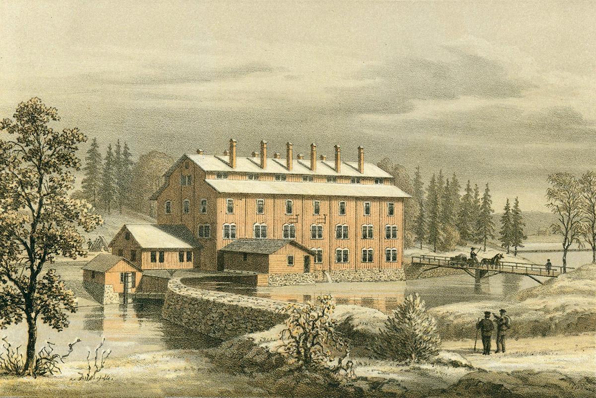 Färglitografi 1872 av Alexander Nay efter teckning av Georg Pabst.