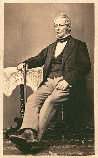 Carl Adolf Malm, född 1804 i Tossene. Ägare av Nabbensberg i mitten av 1800-talet fram till sin död 1865. Lät omkring 1840 uppföra det s.k. Malmska huset längs Kungs- och Hamngatorna i Vänersborg. Foto: W. Dahllöf (Vänersborgs Söners Gille)