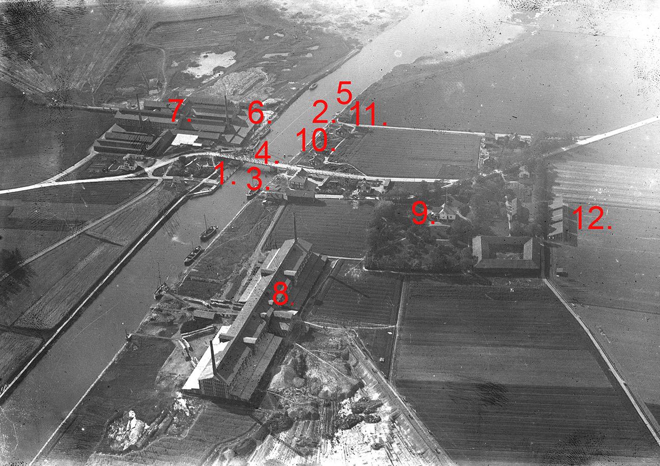 Flygfoto över Gropbron ca 1918